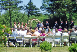 Lavender Green Farm Wedding Ceremony