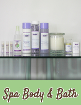 Renew your spirit and nourish your skin with pure Lavender essential oil bath and body care products.